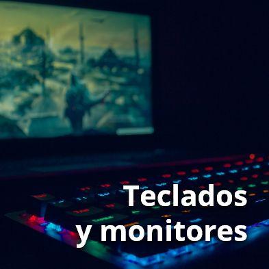 Imagen de teclados y monitores gamer